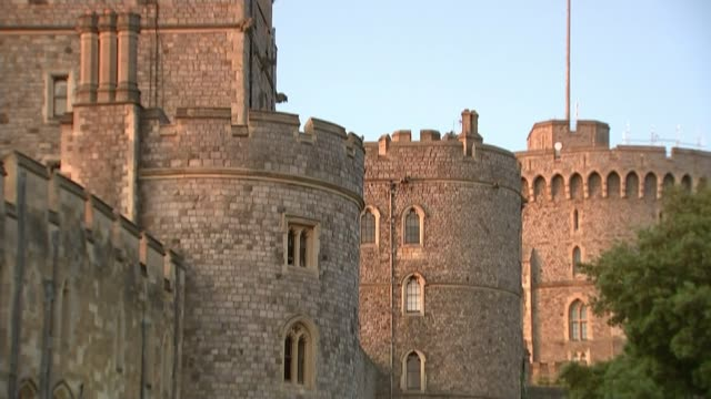 full dress rehearsal / meghan markle confirms her father will not attend england berkshire windsor ext gvs windsor castle in evening sun with royal... - windsor england stock videos and b-roll footage