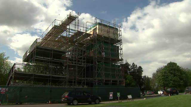 meghan markle's father to walk her down aisle berksire windsor windsor great park ext various of construction workers erecting large stand - meghan harry stock videos and b-roll footage