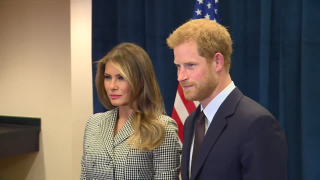 Prince Harry and Melania Trump shake hands and pose for pictures in a US endorsement of the Invictus Games Toronto Canada NNBY326H ABSA627D