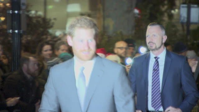 prince harry arrives at westminster cathedral for the london fire brigade carol service on december 04, 2017 in london, england. - westminster cathedral stock videos & royalty-free footage
