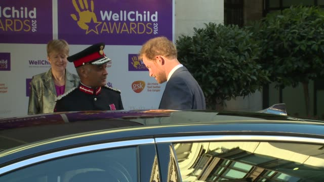 prince harry at dorchester hotel on october 03, 2016 in london, england. - dorchester hotel stock videos & royalty-free footage