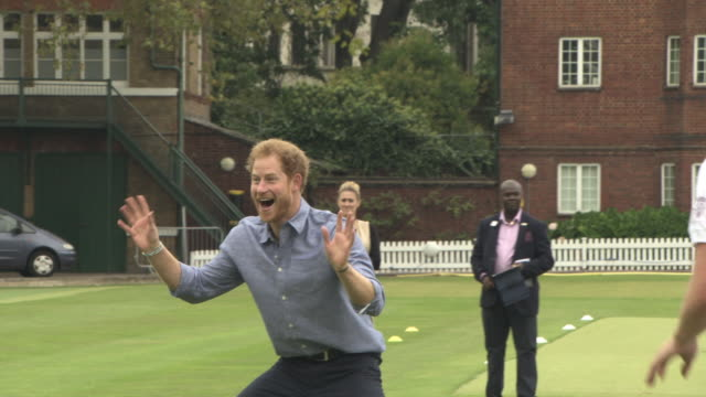 prince harry at expansion of coach core lord's cricket club london on october 07 2016 in london england - prince harry stock videos & royalty-free footage
