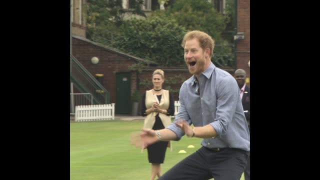 prince harry at expansion of coach core lord's cricket club - queen royal person stock videos & royalty-free footage