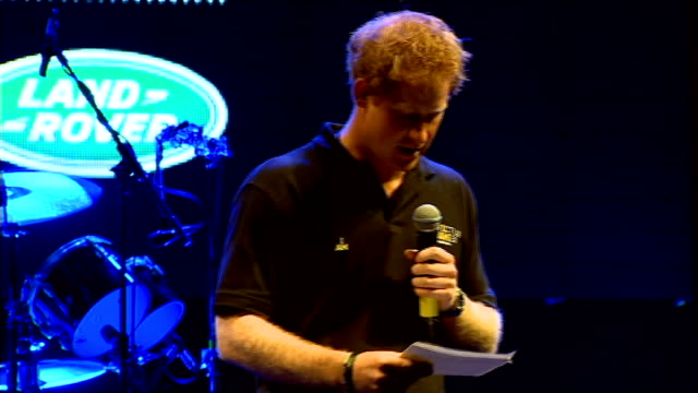 prince harry at invictus games welcome reception at winfield house *** warning prince harry onto stage to make speech sot thoroughly american here... - 2014 stock videos and b-roll footage