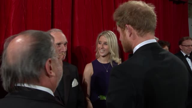 Prince Harry at the Royal Variety Show ENGLAND London Royal Albert Hall PHOTOGRAPHY*** Prince Harry arrives and chats with guests / Prince Harry on...