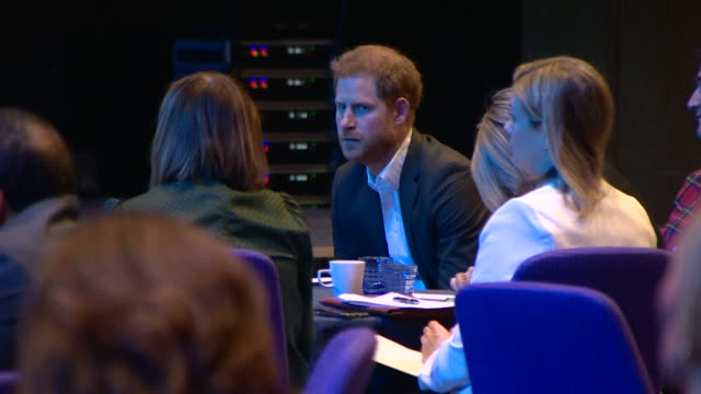 prince harry at travalyst conference in edinburgh about sustainable tourism one of his last official engagements as a working royal - vacations stock videos & royalty-free footage