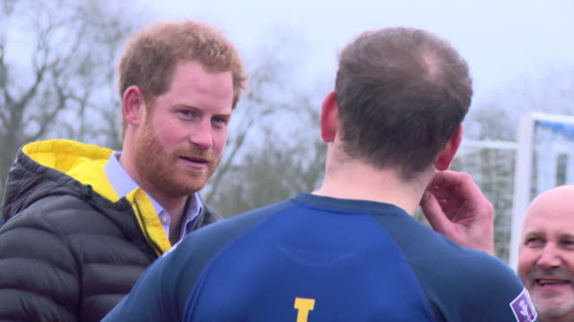 Prince Harry at UK Invictus Games Trials on January 29 2016 in Bath England