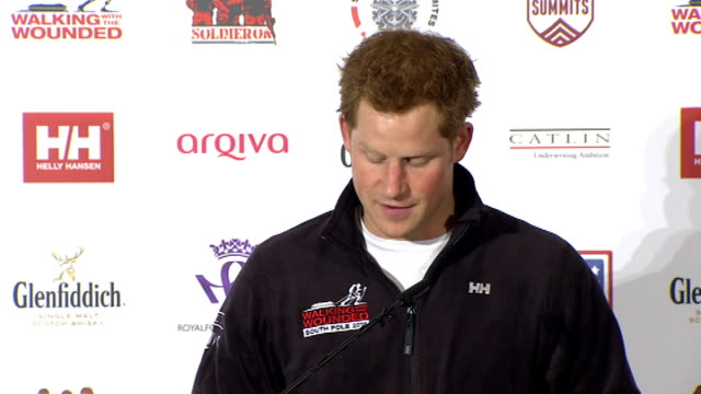 Prince Harry at Walking with the Wounded South Pole trek launch event Prince Harry speech at Walking With the Wounded South Pole Allied Challenge...