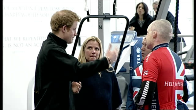 prince harry attends invictus games selection event; england: wiltshire: tidworth: int **flashlight photography throughout** prince harry chatting... - tidworth stock videos & royalty-free footage