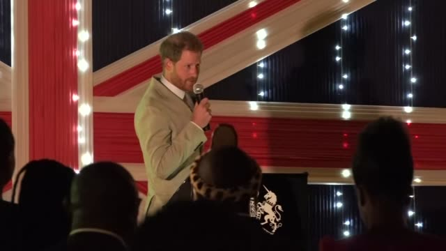 prince harry attends reception at the british high commission in malawi; malawi: prince harry attends reception at the british high commission in... - malawi stock videos & royalty-free footage