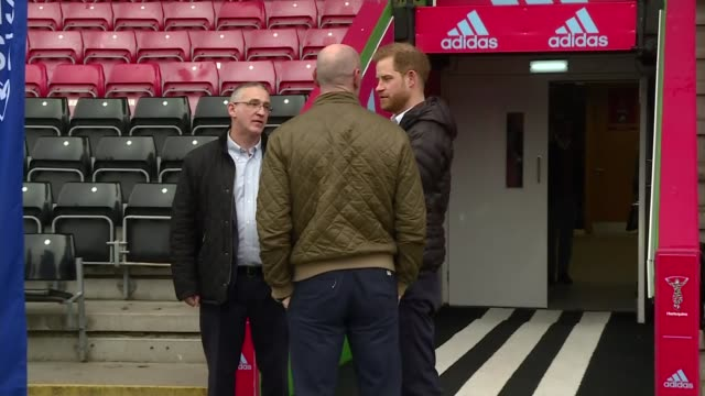prince harry attends terrence higgins trust event at twickenham england london twickenham ext prince harry duke of sussex along onto pitch and... - gareth thomas rugby player stock videos & royalty-free footage