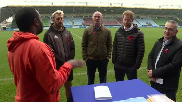 prince harry attends terrence higgins trust event at twickenham england london twickenham prince harry gareth thomas chris robshaw and members of... - gareth thomas rugby player stock videos & royalty-free footage