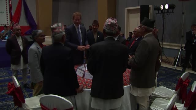 Prince Harry attends welcome reception NEPAL Kathmandu Yak Yeti Hotel PHOTOGRAPHY** Prince Harry speech SOT Namaste I am hugely honoured and excited...