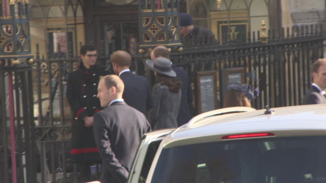 Prince Harry Catherine Duchess of Cambridge Prince William Duke of Cambridge Celebrity Sightings in London at on March 14 2016 in London England