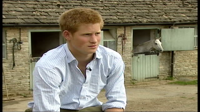 prince harry celebrates his 21st birthday; england: gloucestershire: ext prince harry interview sot. - every year we get closer / even resorted to... - cheerful stock videos & royalty-free footage