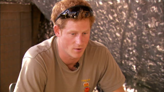 Prince Harry criticises media coverage of his private life December 2012 Camp Bastion EXT Prince Harry interview SOT Probably let myself down let...