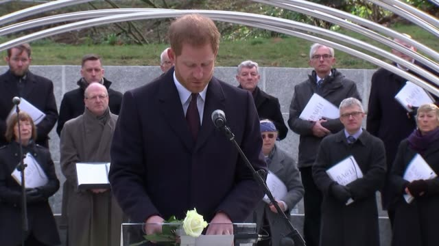Prince Harry dedicates new memorial to British tourists killed in Tunisia in 2015 ENGLAND West Midlands Birmingham Cannon Hill Park EXT Prince Harry...