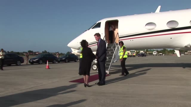 prince harry departs jamaica on march 08 2012 in kingston jamaica - emma brumpton stock videos & royalty-free footage