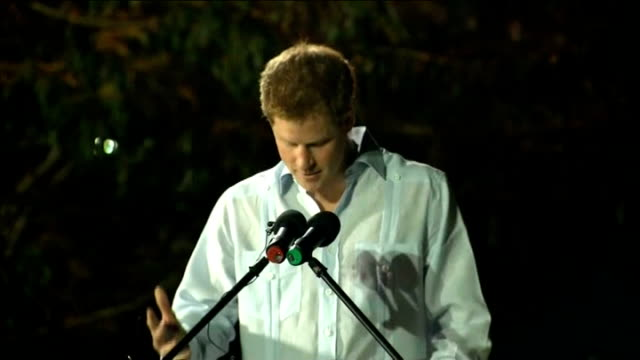 prince harry diamond jubilee tour of caribbean and brazil: harry dances in belize; prince harry speech continues sot - diamond jubilee stock videos & royalty-free footage