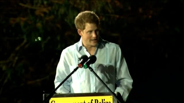 prince harry diamond jubilee tour of caribbean and brazil harry dances in belize prince harry speech sot when it became clear that i was to represent... - ロイヤルツアー点の映像素材/bロール