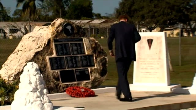 Prince Harry Diamond Jubilee tour of Caribbean and Brazil Harry arrives in the Bahamas 332012 Harry laying wreath at war memorial for fallen British...
