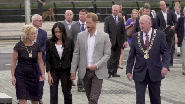 Prince Harry Duke of Sussex and Meghan Duchess of Sussex visit EPIC The Irish Emigration Museum on their visit to Ireland on July 10 2018 in Dublin...