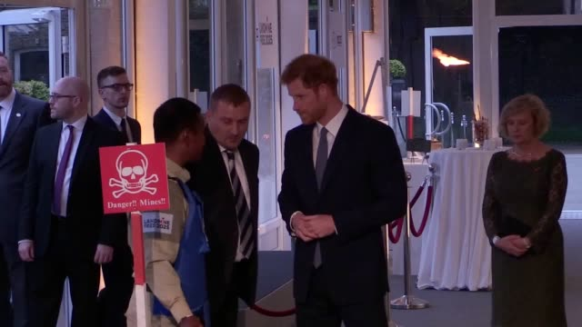 prince harry has asked for help in keeping the promise his mother made to landmine victims, at a kensington palace reception on international mine... - bosnia and hercegovina stock videos & royalty-free footage