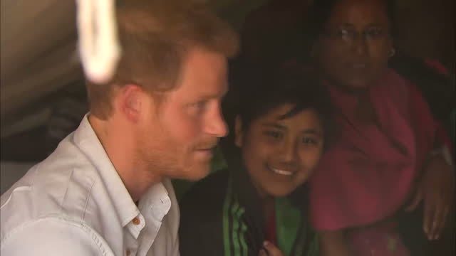 prince harry has paid tribute to survivors of nepal's earthquake last year, and said it was luck that they had survived. on an official visit to the... - nepal stock videos & royalty-free footage