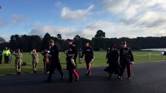 Prince Harry has returned to Sandhurst to inspect the newest batch of officer recruits 11 years after graduating from the prestigious military...