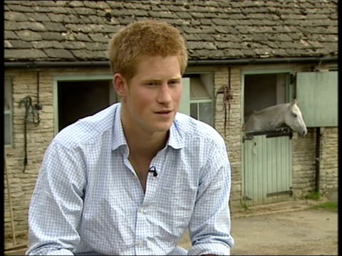 prince harry interview to mark 21st birthday england gloucestershire highgrove prince harry interview sot i love kids and there's something about... - gloucestershire stock videos and b-roll footage