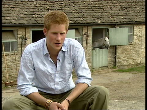 prince harry interview to mark 21st birthday england gloucestershire highgrove prince harry interview sot they still upset me and i still read them... - gloucestershire stock videos and b-roll footage