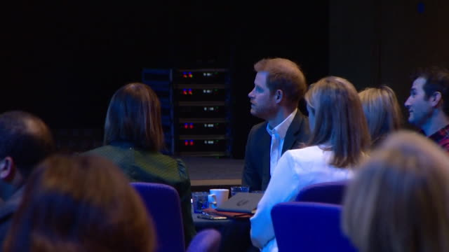 prince harry introduced onto stage at travalyst conference in edinburgh about sustainable tourism he has made it clear that we are all just to call... - identity stock videos & royalty-free footage