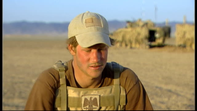 Prince Harry is serving in Afghanistan **Interview partly overlaid SOT** Prince Harry carrying water container Prince Harry interview SOT I don't...