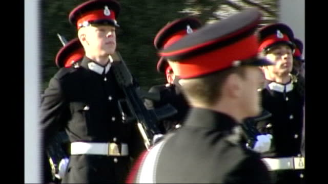 prince harry is serving in afghanistan lib sandhurst prince harry taking part in passing out parade with household cavalry regiment - passing out parade stock videos & royalty-free footage