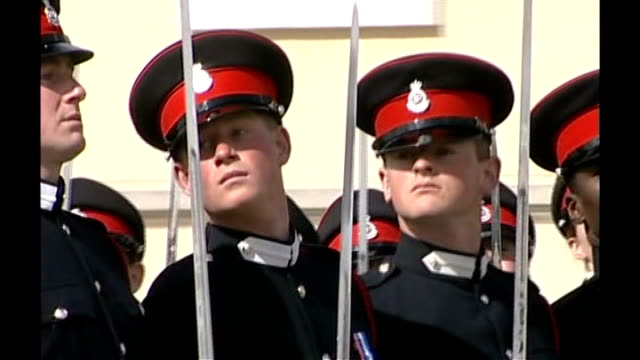 prince harry is serving in afghanistan lib sandhurst prince harry taking part in passing out parade with household cavalry regiment queen looking on - passing out parade stock videos & royalty-free footage
