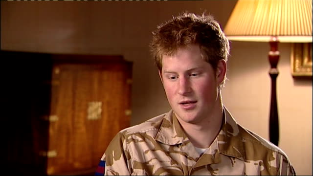 prince harry interview before his deployment i think afghanistan is a remote place in general i've never actually been there not a great holiday... - raf stock videos and b-roll footage