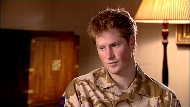 prince harry interview before his deployment in my dnawell clearly not because my father was in the navy i don't know it's the same with lots of... - army helmet stock videos & royalty-free footage