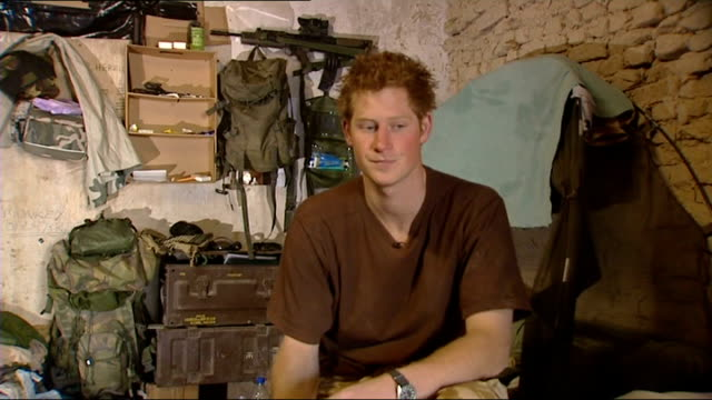 Prince Harry interview in Afghanistan and scenes of camp life Yeah this is what it is all about what it's all about is being here with the guys...