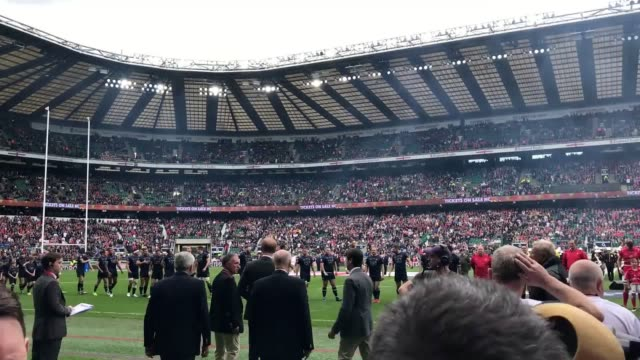 Prince Harry joined thousands of cheering rugby fans at Twickenham stadium to watch the Army take on their Royal Navy rivals He attended the clash on...