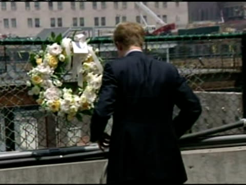 Prince Harry lays a wreath at Ground Zero