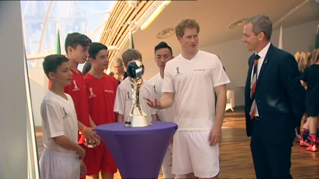 Prince Harry meeting with 2015 FIFA U20 World Cup volunteers at promotional event