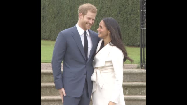 Prince Harry Meghan Markle at Announcement Of Prince Harry's Engagement To Meghan Markle