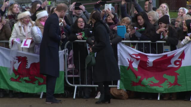 prince harry, meghan markle at cardiff castle on january 18, 2018 in cardiff, wales. - cardiff wales stock videos & royalty-free footage