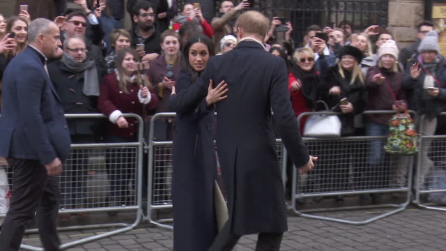 prince harry meghan markle at prince harry meghan markle visit nottingham on december 01 2017 in nottingham england - prince harry stock videos & royalty-free footage