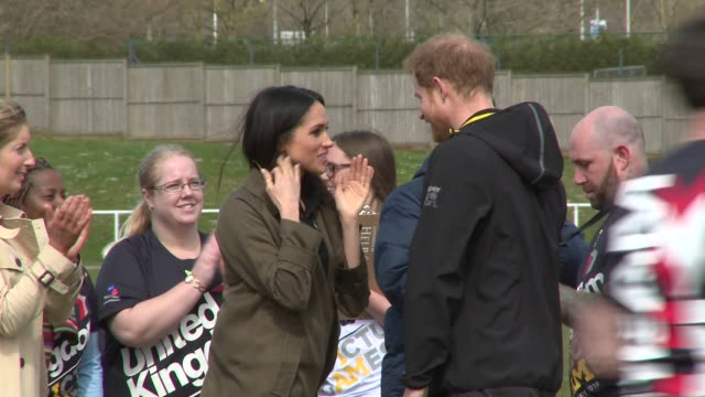 prince harry ms meghan markle at university of bath on april 06 2018 in bath england - harry meghan stock videos & royalty-free footage