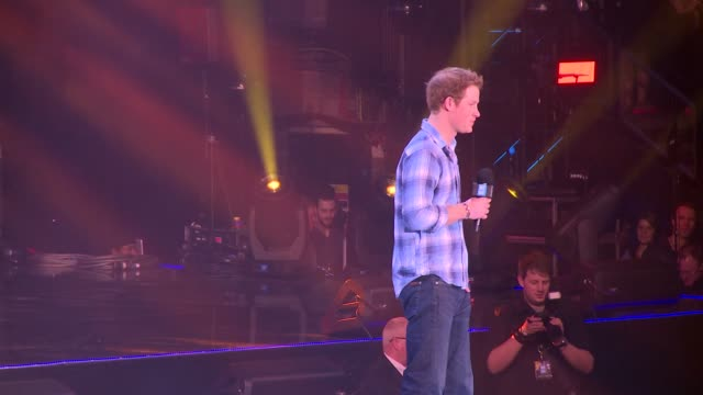 prince harry on free the children at we day uk at wembley arena on march 7, 2014 in london, england. - wembley arena stock videos & royalty-free footage