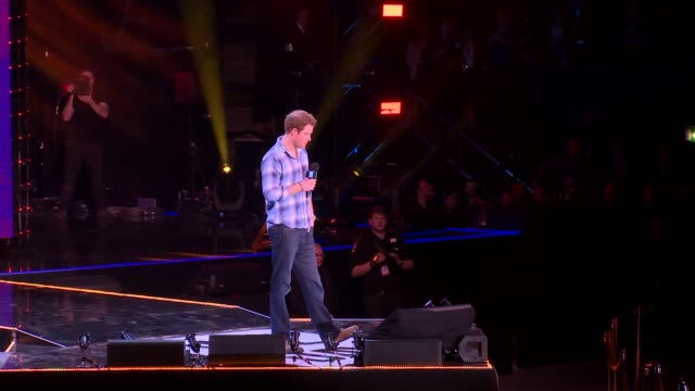 prince harry on helping others and the diana award at we day uk at wembley arena on march 7, 2014 in london, england. - wembley arena stock videos & royalty-free footage