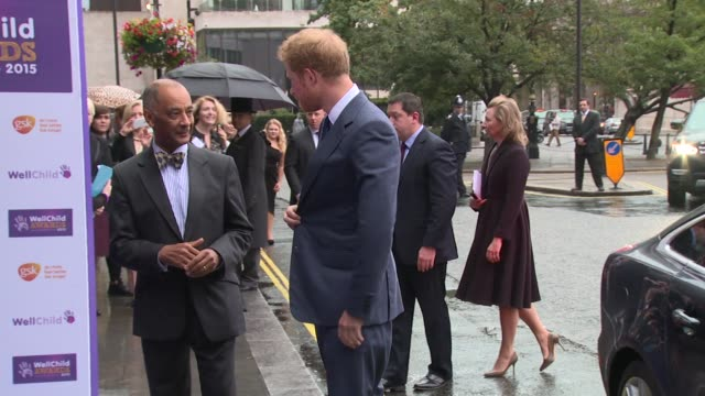 prince harry on october 05, 2015 in london, england. - 2015 video stock e b–roll