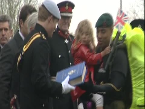 Prince Harry opens a remembrance field at Wootton Bassett dedicated to UK service personnel killed in Afghanistan