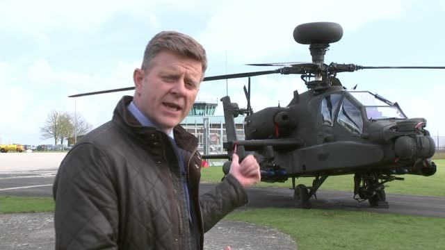 Prince Harry refers to defence cuts during graduation ceremony for new helicopter pilots ENGLAND Hampshire Middle Wallop Army Aviation Centre EXT...